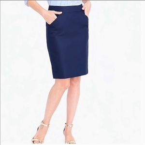 Jcrew Navy the pencil skirt